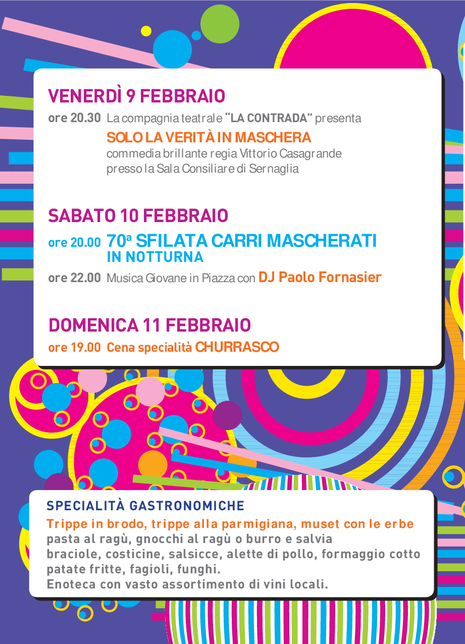 Programma San Valentino 2018 1