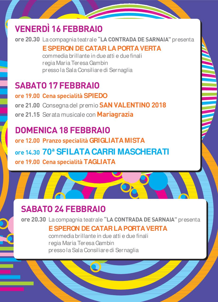 Programma San Valentino 2018 2