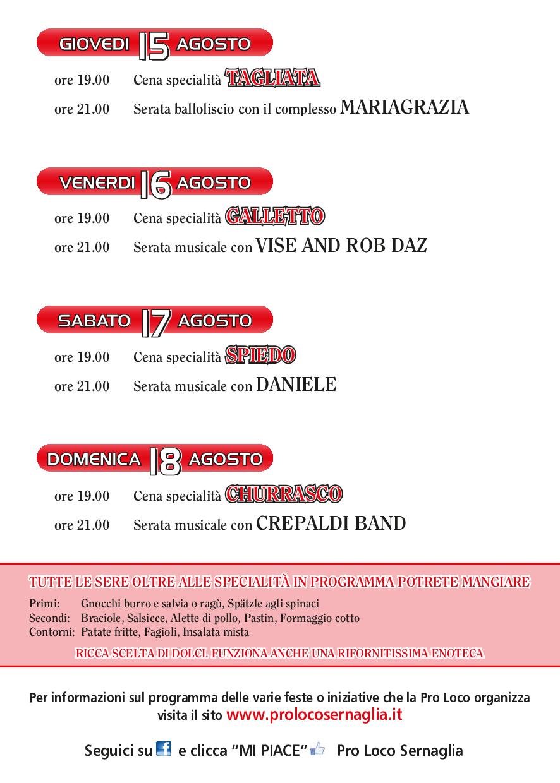 Programma San Rocco 2019