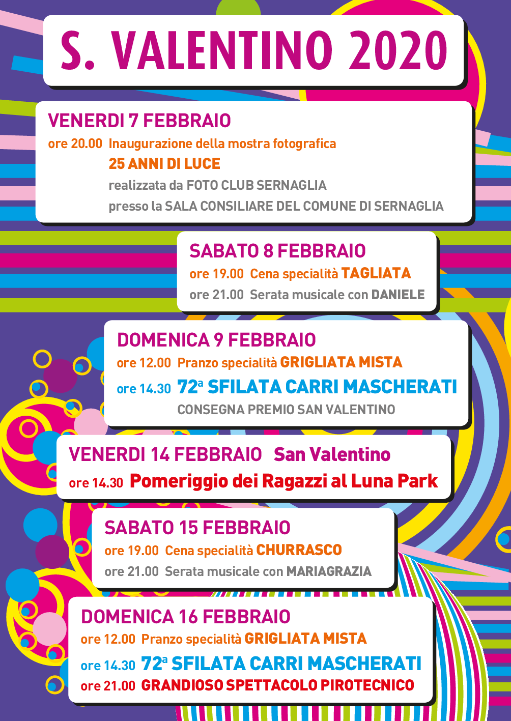 Programma San Rocco 2020